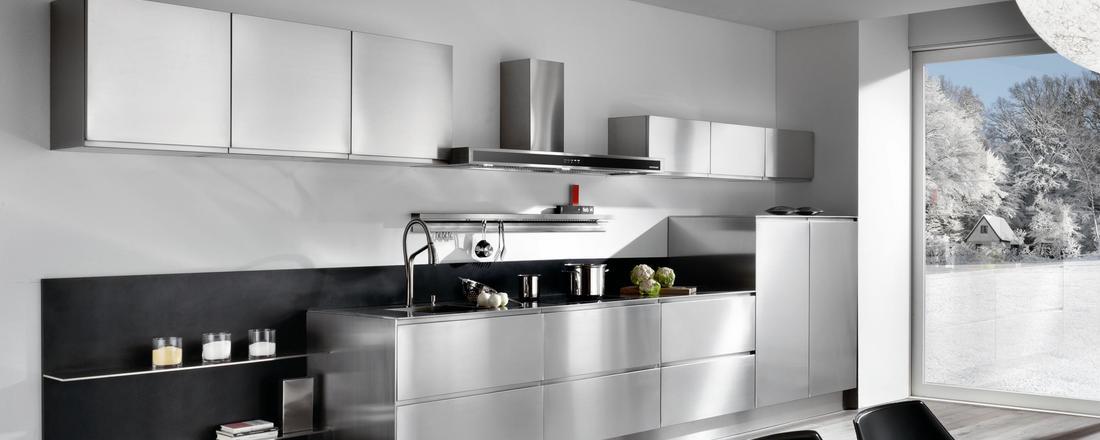 Mobili cucina acciaio top cucina moderna con soffitto a for Cucine pertinger